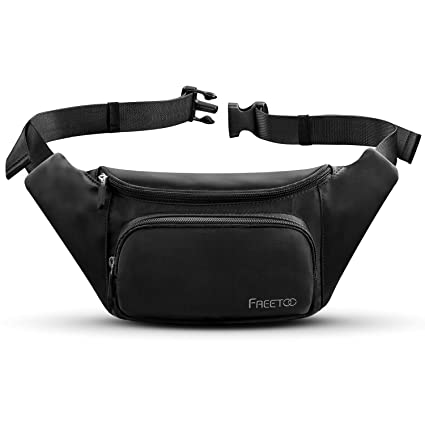 37cfb6027e4 FREETOO Fanny Pack Waist Pack for Women,with Large Capacity,Waterproof,  Sweat-Resistant and Wear-Resistant Nylon Bum Bag,fits Phones Up to ...