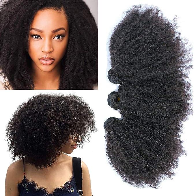 Mongolian Afro Kinky Curly Human Hair Bundles 4b 4c Afro Curly Weave Hair Human Bundles 10 12 14 Inch Hair Wavy Coily Afro Kinkys Bulk Human Hair Bundles Natural Black Color Extension Beauty Amazon Com