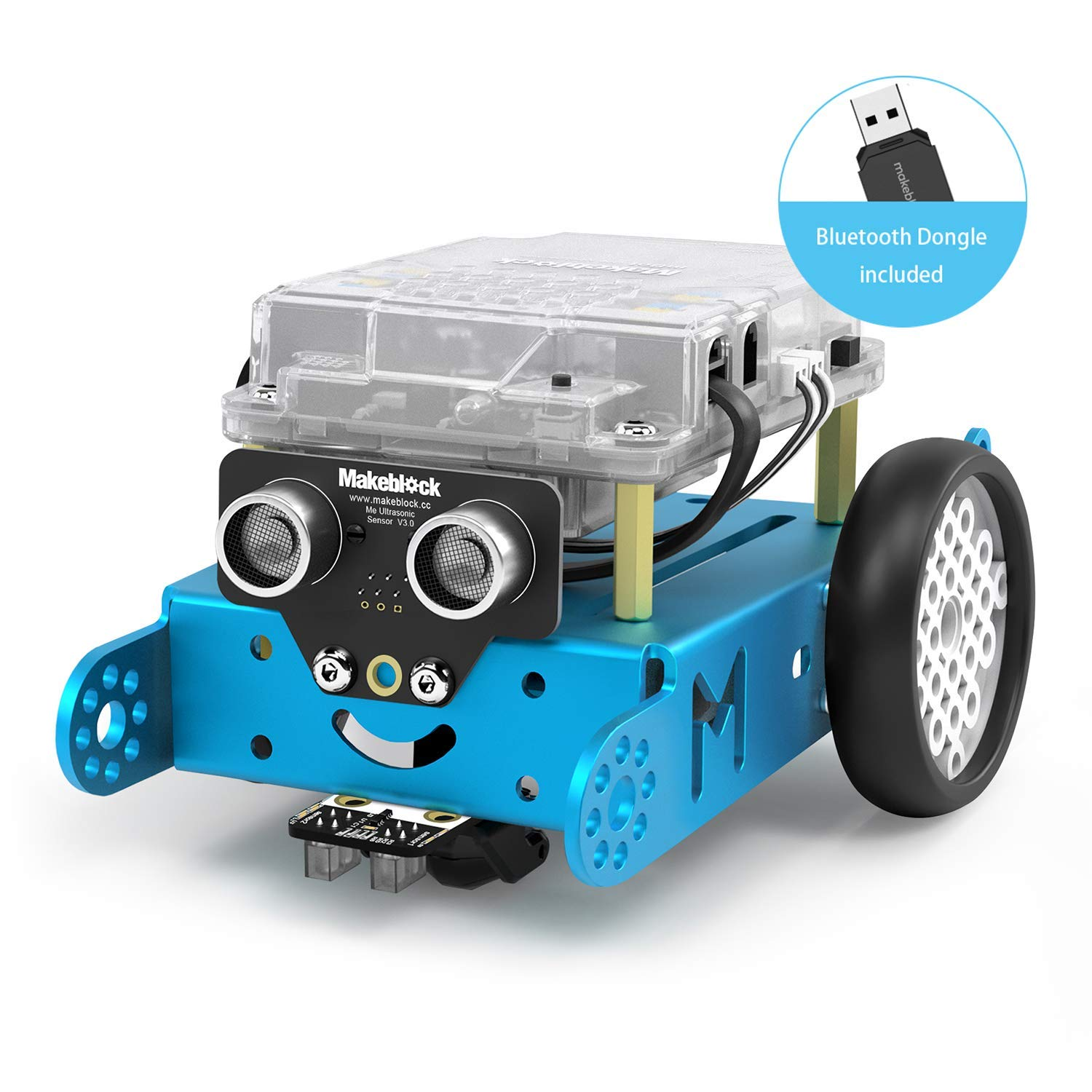 Makeblock mBot Robot Kit for Kids Ages 8+, STEM Education, Entry-Level Programming DIY Mechanical Building Blocks Robot, Suitable for Window/macOS/Linux/Chrome OS(Blue, Bluetooth Dongle, Classroom) by Makeblock