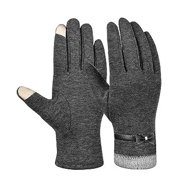 a5e0a5dcf7d6 Vbiger Gants chauds d hiver Femmes Mitaines chaudes épaisses Gants à froid  Gants à écran