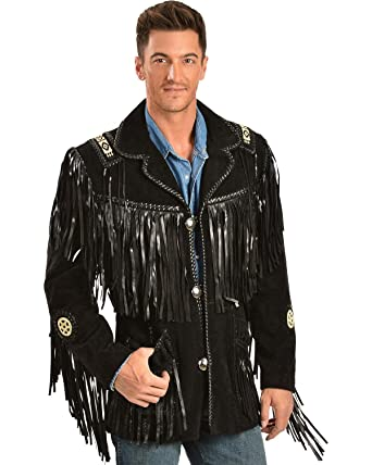 9d6ab48ea24 Amazon.com  Scully Men s Fringed Suede Leather Coat Tall  Clothing