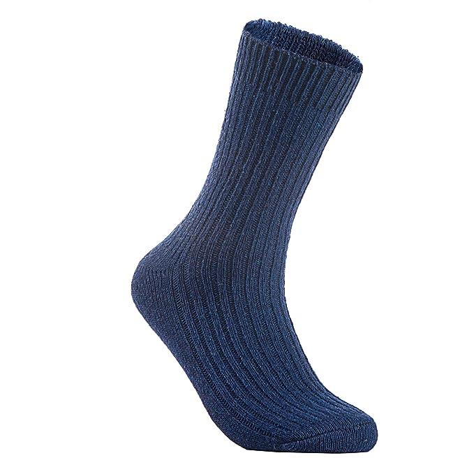 Lian estilo de vida de hombre 5 pares calcetines de lana Tejido de punto Un tamaño 8 - 11 - Azul - : Amazon.es: Ropa y accesorios