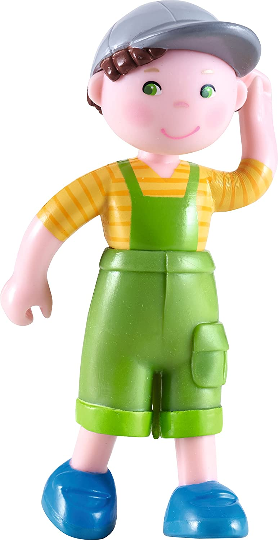 HABA Little Friends Farm Boy Nils - 4' Bendy Doll Figure with Cap 302777