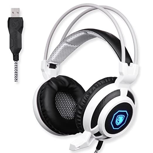 13 opinioni per SADES SA905 USB PC Gaming Headset cuffie Gaming con microfono Mild Vibration e