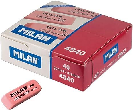 Milan - Caja de 40 Gomas de borrar miga de Pan Flexible para Uso ...
