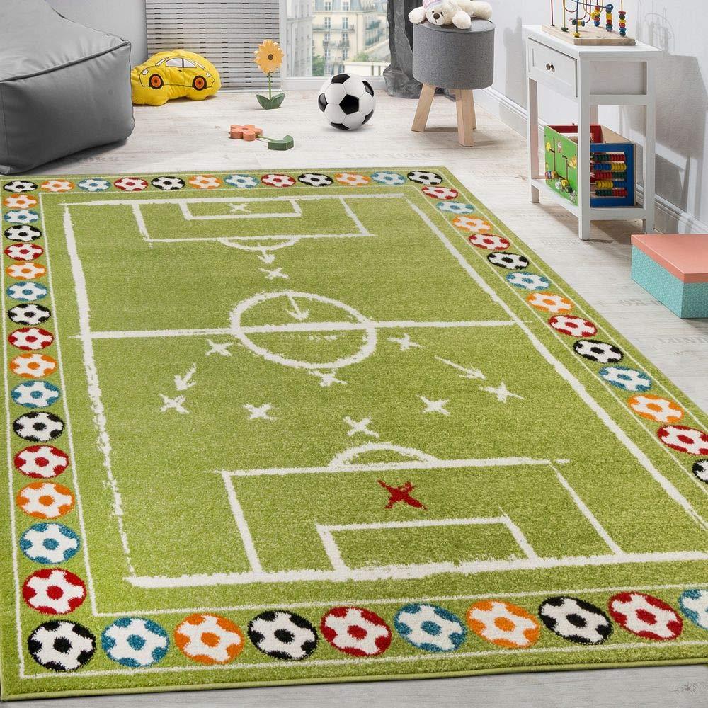 Alfombra Infantil Balones Multicolor Pelo Corto Campo Fútbol ...