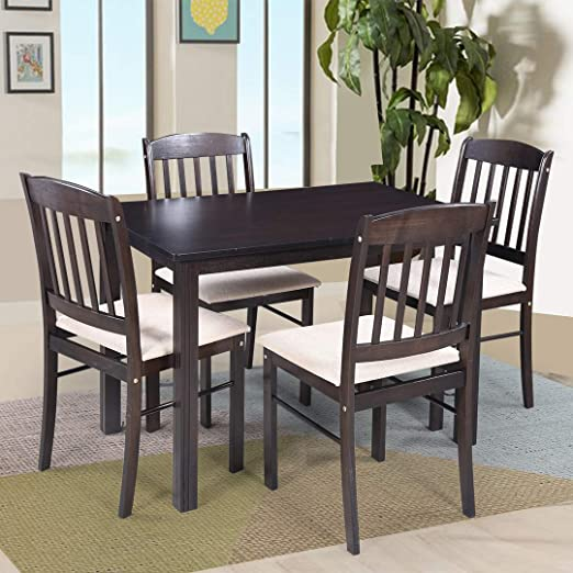 Royaloak Divine 4 Seater Solid Wood Dining Set with Cushioned Chairs Dining Room Sets