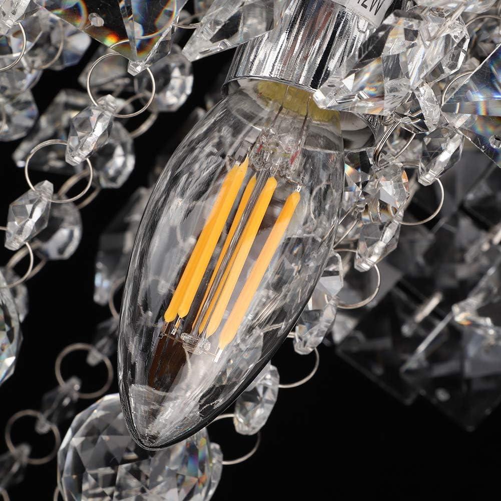 1-Leuchtet E14 Wohnzimmer Kristallleuchter inbegriffen Gl/ühlampe Ausla Kristall Kronleuchter 3000-5000K 2-Leuchtet // 1-Licht B/ündiger Kristallleuchter Kristall Deckenleuchte