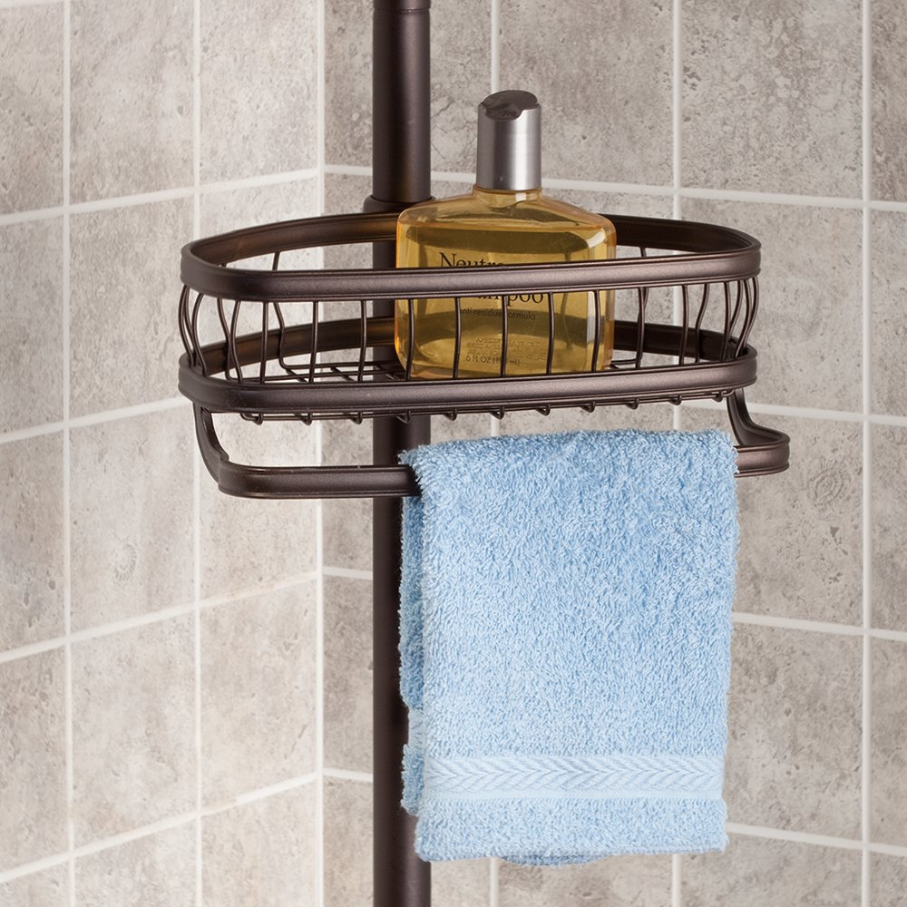 InterDesign York Constant Tension Shower Caddy – Bathroom Storage Shelves for Shampoo, Conditioner, Soap and Razors, Bronze by InterDesign (Image #4)