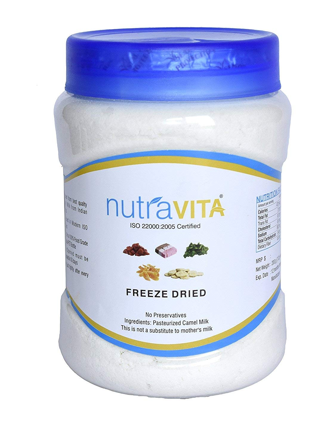Nutra Vita Freeze Dried Camel Milk Powder 500 G (Natural, Gluten Free, No Added Color,Flavours Or Preservatives) by Nutra Vita (Image #2)