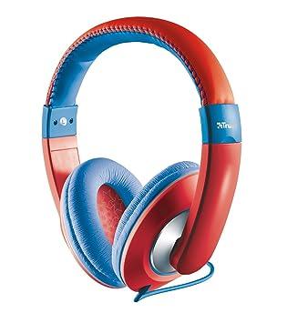 Trust Urban Sonin - Auriculares de Diadema Cerrados para niños, Color Rojo: Amazon.es: Electrónica