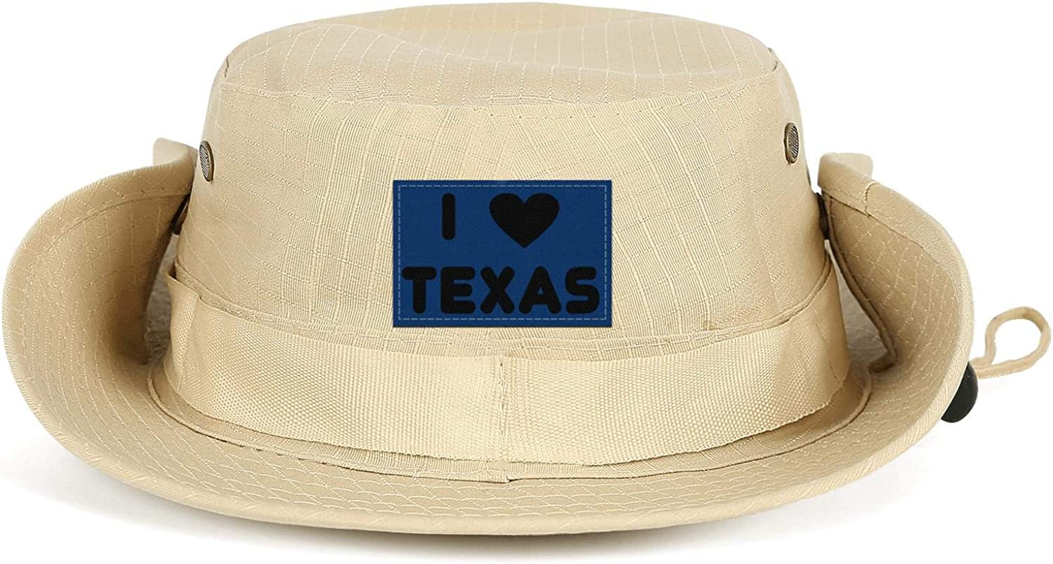 I Love Heart Dallas Unisex Mens Sun Protection Fishing Cap Hiking Adjustable Hat