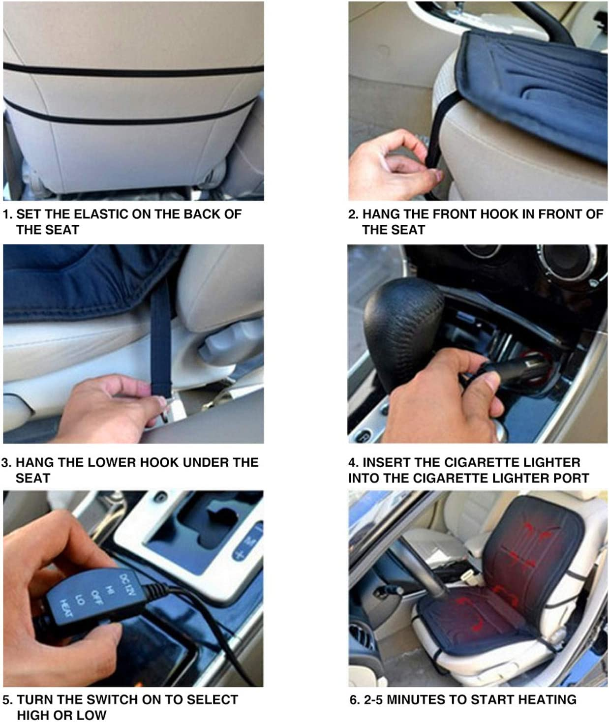 Universal 12V Heated Multifunctional Car Seat Heater Fast Warming for Cold Weather Winter Driving Safer Heated Seat Cover for Car//Truck//Home//Office Chair Use XUELI Heated Car Seat Cushion