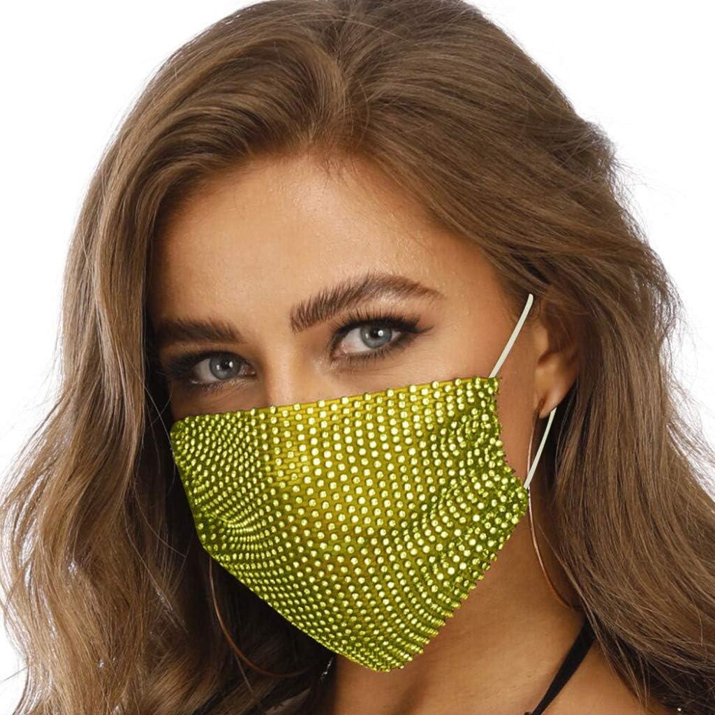 Bufanda de malla brillante para mujer Weiqu para protecci/ón al aire libre transl/úcida dise/ño de baile de m/áscaras para fiestas nocturnas