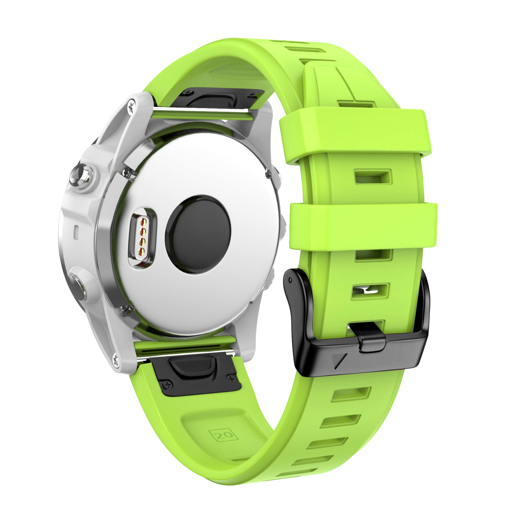 ANCOOL Compatible with Fenix 5S Plus Bands 20mm Width Easy Fit Soft Silicone Watch Bands Replacement for Fenix 6S/Fenix 6S Pro/Fenix 5S Smartwatches, Green by ANCOOL