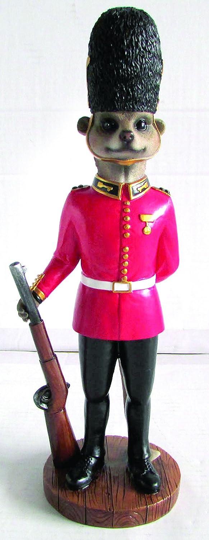 BRAND NEW COLDSTREAM GUARD SOLDIER MEERKAT GARDEN ORNAMENT