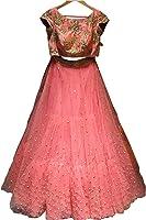 Classyfashion Women's Party Wear New Collection Special Sale Offer PinkHeavy Bridal Wedding Lehenga Chaniya Ghagra Choli Lehenga Choli