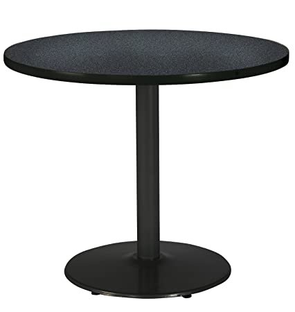 KFI Seating T42RD-B1922-BK-GRN Graphite 42 Pedestal Table with Round Base, Nebula