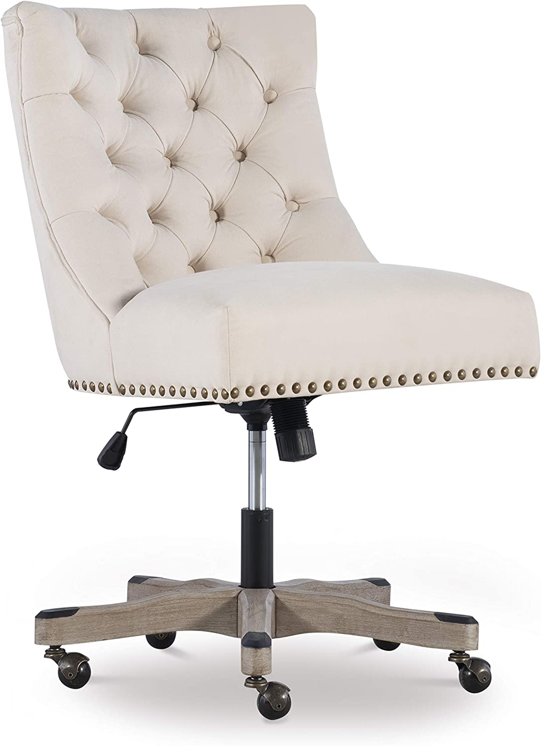 Linon Home Décor Honor Natural Office Chair, Beige