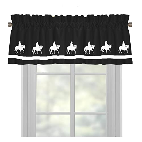 Trail Horse Country Western Window Valance Window Treatment – In Your Choice of Colors – Custom Made