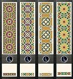 file art ordnerr cken design etiketten motiv pattern f r 12 breite 12 schmale. Black Bedroom Furniture Sets. Home Design Ideas
