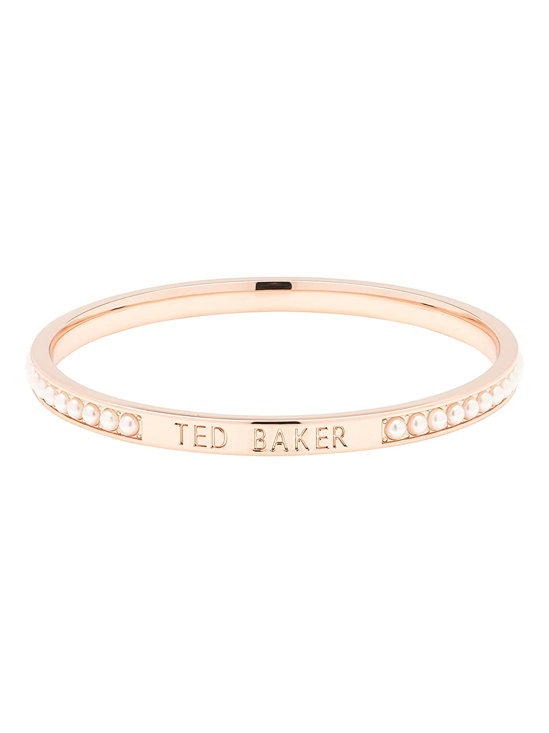 44904c58c9bf2 Ted Baker Clem Narrow Pearl Crystal Band Bangle: Amazon.co.uk: Jewellery