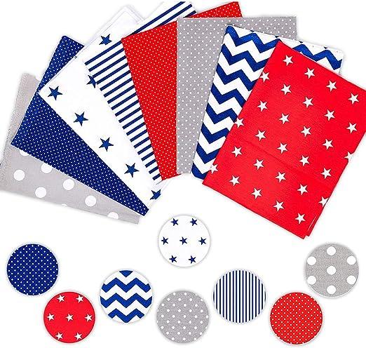 Juego de 8 piezas de tela de algodón de Shujin, para coser, tela ...