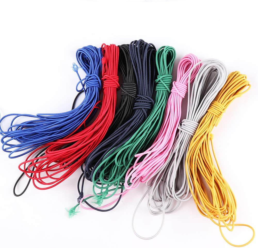 Nylon DIY Apparel Craft Accessory Coffee skonhed 3mm10m Elastic String Thickness Rubber Rope Jewelry Cords
