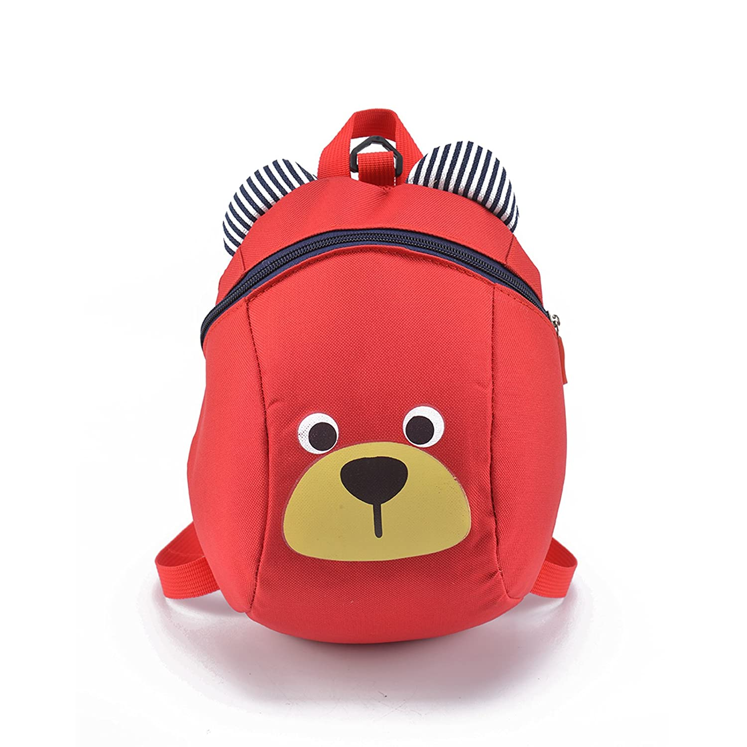 DHOUTDOORS Baby Toddler Safety Harness Backpack Kids Strap Shoulder Backpack Bag with Reins Leash Rucksack Harness Walkers Tether Belt Red oem