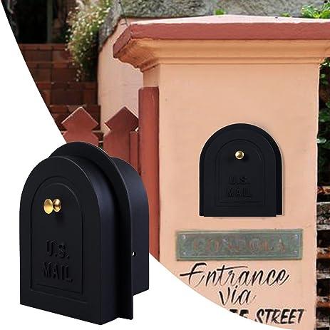 Brick Stone Stucco Mailbox Door - Cast Aluminum Replacement Doors Mailboxes (6\u0026quot;) & Brick Stone Stucco Mailbox Door - Cast Aluminum Replacement Doors ...