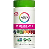 Rainbow Light Women's One Daily High Potency Multivitamin for Immune Support with Vitamin C, D & Zinc, 60 Tablets, Non…
