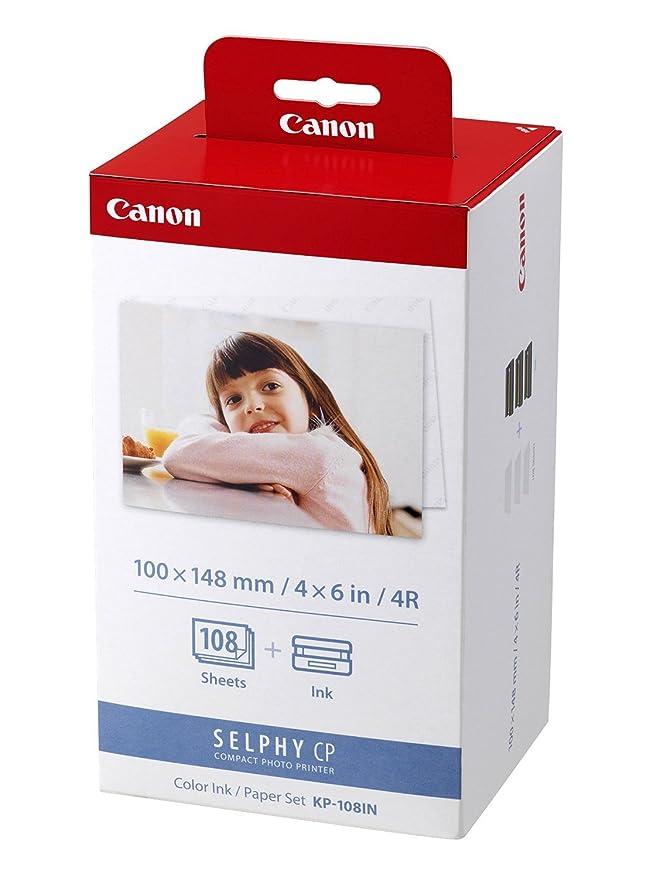 100x148 mm CP900 108 Blatt A6 Photo Canon Fotopapier f/ür Canon Selphy CP 900 Color Ink Paper Set