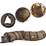 PAWZ Road Collapsible Cat Tunnel Toys,Play Tube for Kittens,Rabbits 25*120 cm-Best Play House & Shelter to Keep Pet Entertained