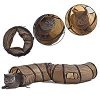 Pawz Road Katzentunnel Kätzchen Spielzeug Pet Play Tube S Tunnel zusammenklappbar Trabar 120 cm