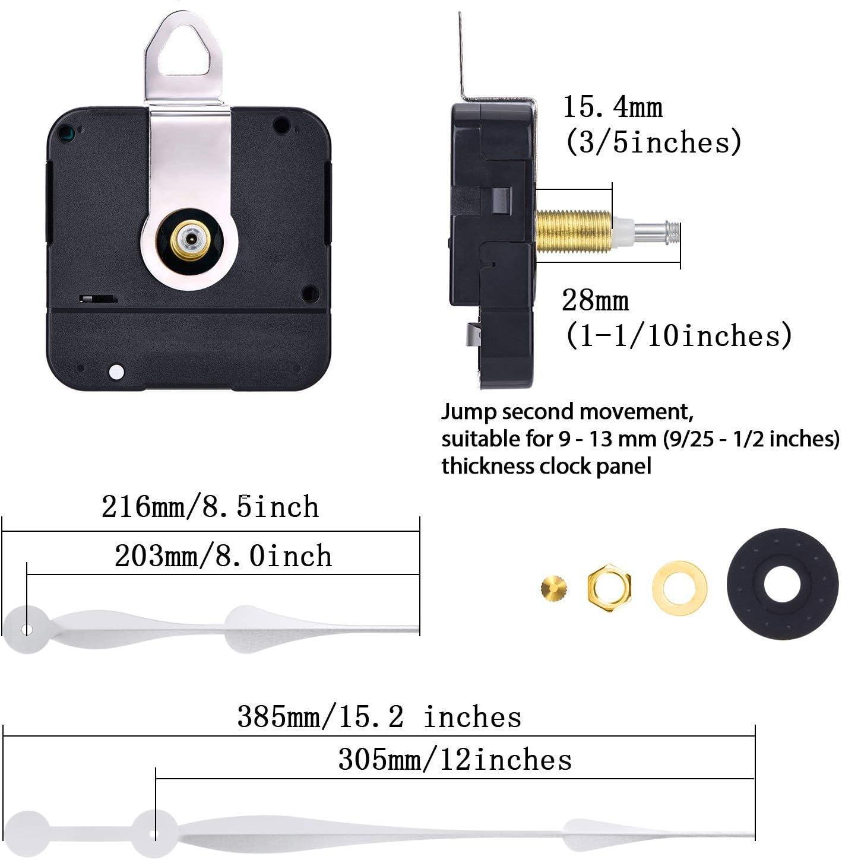 2 stücke DIY Quarz Wanduhr Bewegungsmechanismus Ersetzen Teil 13mm 18,4mm