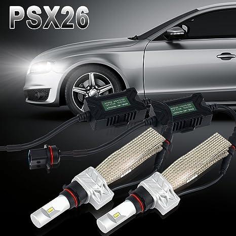 2× PSX26 LED Headlight Bulb 8000LM 6500K Led Headlight Conversion Kit Driving lamp Bulbs Fog