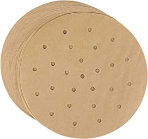 Unbleached Air Fryer Parchment Paper, Set of 200, 8 Inch Air Fryer Bamboo Liners Perforated Parchment Paper Round Parchment Paper for Air Fryer, Steaming Basket and More(5/6/7/8/9/10inch Available)
