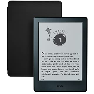 Kindle for Kids Bundle with Kindle E-reader 8th Generation, 2-Year Worry-Free Guarantee, Black Cover
