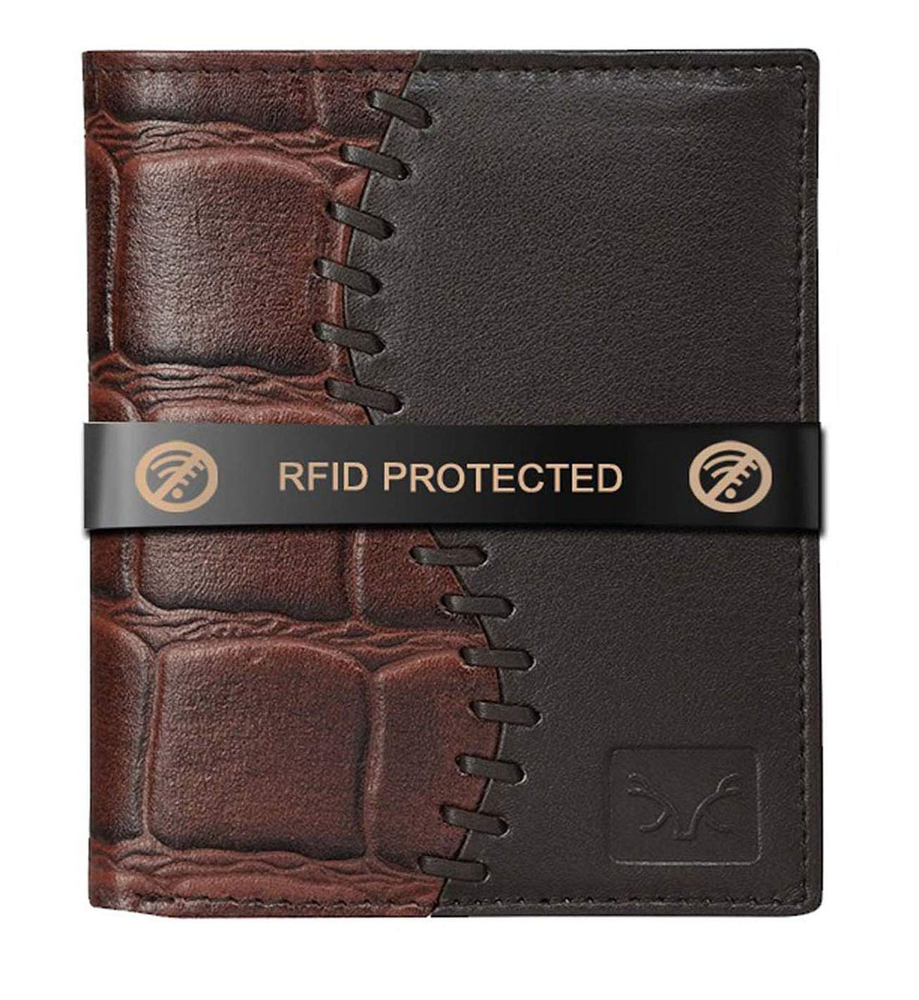 AL FASCINO Stylish RFID Protected Genuine Leather Wallet for Men
