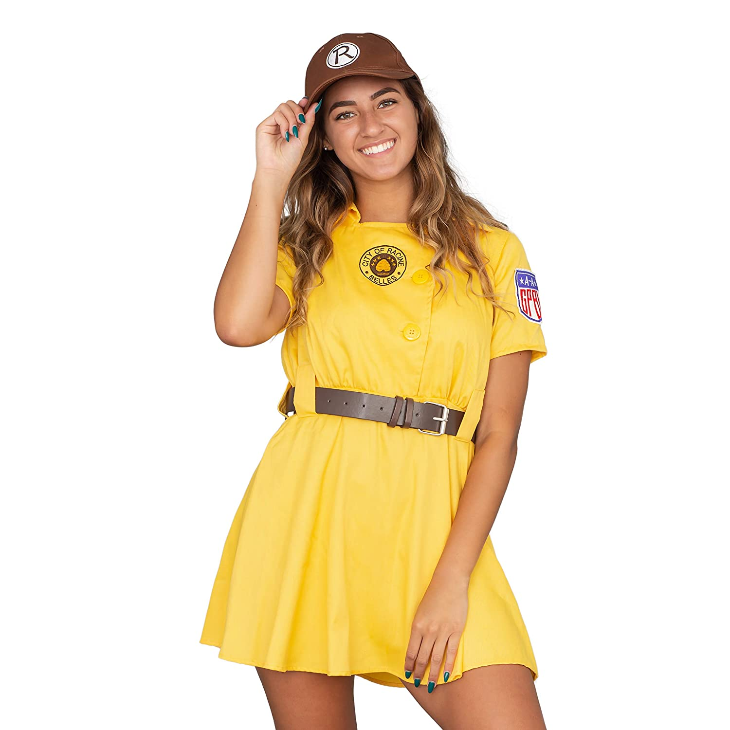 1940s Costumes- WW2, Nurse, Pinup, Rosie the Riveter Racine Belles AAGPBL Baseball Womens Costume Dress $49.99 AT vintagedancer.com