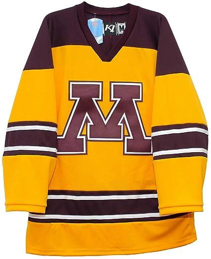 Minnesota Golden Gophers Gold Third Hockey Jerseys by K1 Sportswear (2-XL) a924eb94e1d