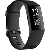 Fitbit Charge 4 Fitness and Activity Tracker with Built-in GPS, Heart Rate, Sleep & Swim Tracking, Black/Black, One Size…