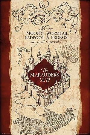 die karte des rumtreibers Amazon.de: Harry Potter   Marauders map   Karte des Rumtreibers