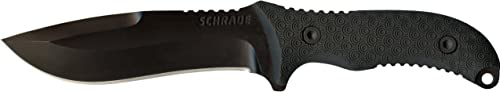 Schrade SCHF26 10.8in Stainless Steel Full Tang Fixed Blade Knife with 5.4in Kukri Point Blade and TPE Handle for Outdoor Survival, Camping and Bushcraft,Multi