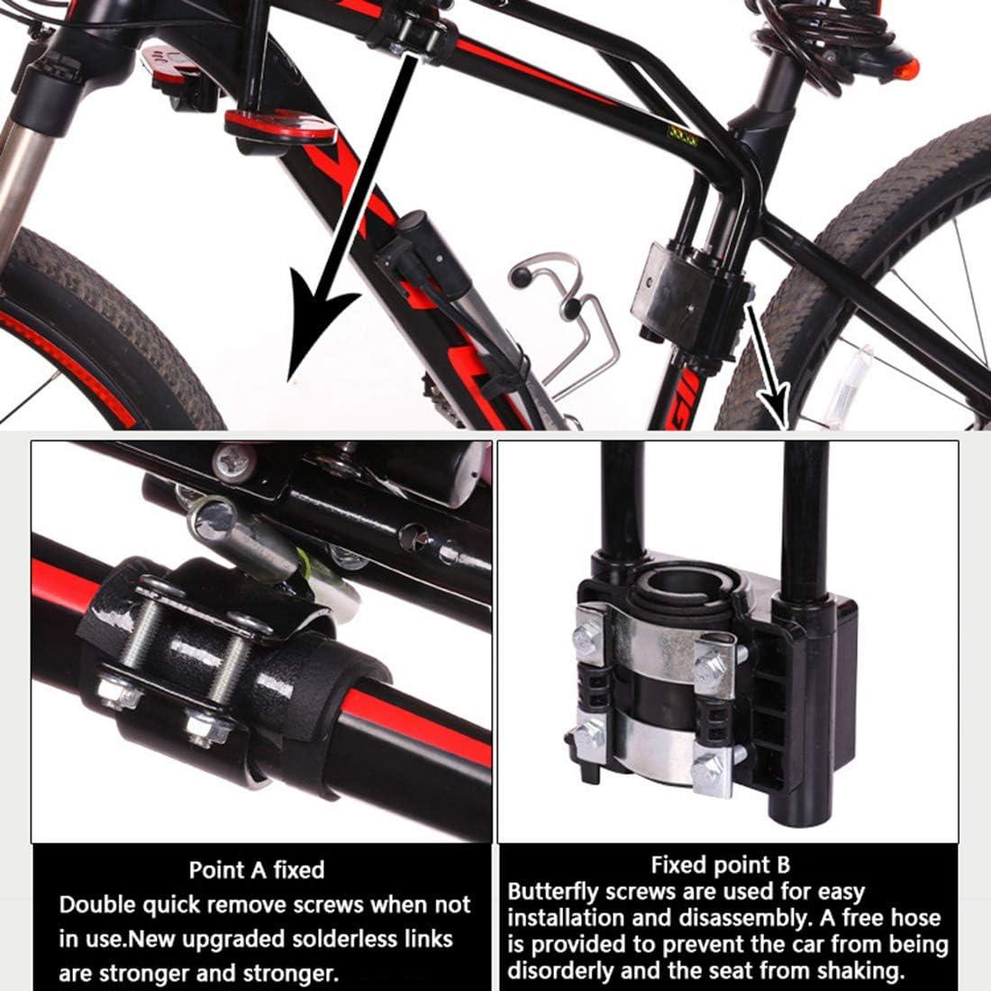 Dittzz Sillines de Bicicleta para Ni/ños para Beb/és de 1 a 7 a/ños Asiento Delantero de la Sill/ín,Desmontable Asiento de Bicicleta con Apoyabrazos Barandilla y Pedal para Bicicleta de Monta/ña