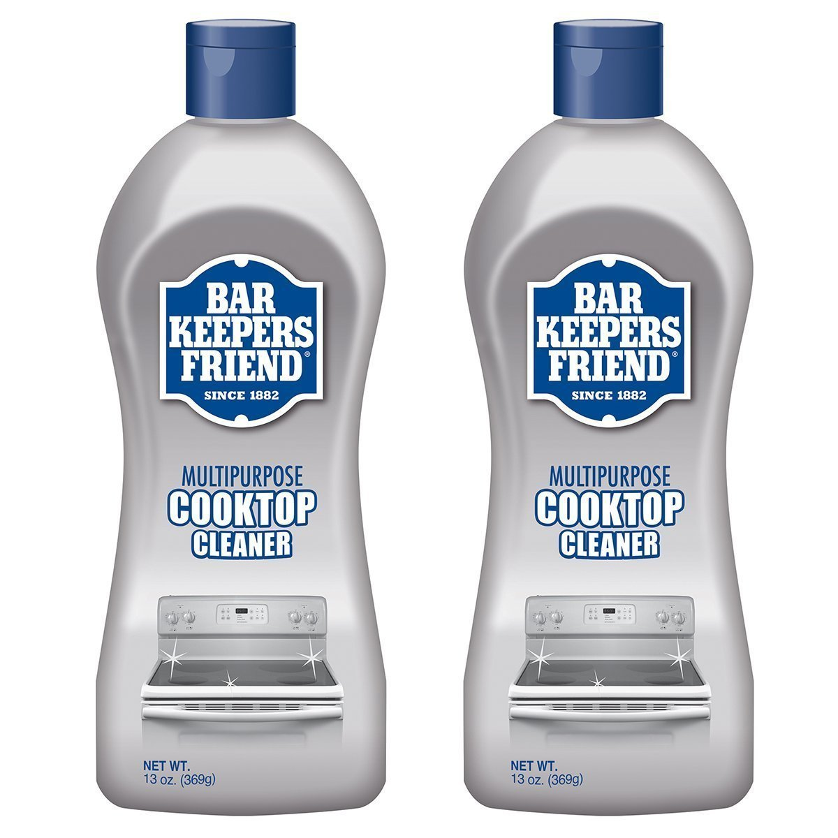 Bar Keepers Friend Multipurpose Ceramic and Glass Cooktop Cleaner | 13-Ounces | 2-Pack
