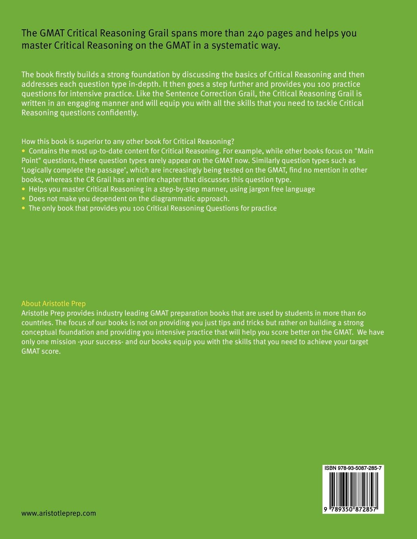 Buy GMAT Critical Reasoning Grail Book Online at Low Prices in India | GMAT  Critical Reasoning Grail Reviews & Ratings - Amazon.in