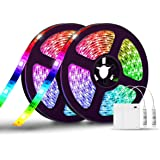 LED Strip Lights Battery Operated,SOLMORE 13.2FT/4M RGB LED Light Strip SMD5050 60 LEDs Rope Lights Led Lights for Room…