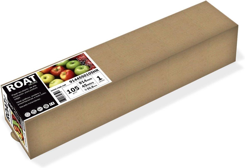 HR 10674550105HR – Rollo de papel inkjet de alta resolución de 105 gr, 1067 mm x 45 mtrs, para todo tipo de plotters, 1 ud/caja: Amazon.es: Oficina y papelería