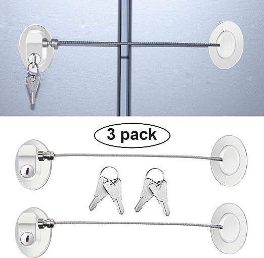 White Functional Child Baby Safety Care Fridge Drawer Door Cabinet Cupboard Lock
